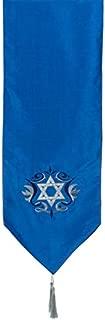 Hanukkah Blue and Silver Star Of David Table Runner Decoration Holiday Decor
