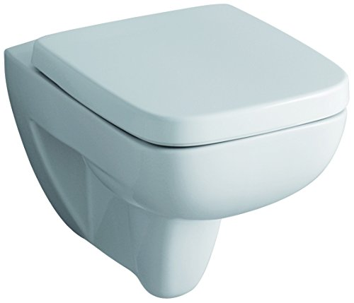 Geberit Tiefspül-WC Renova Nr. 1 Plan (wandhängend, aus Sanitärporzellan, Zulauf von hinten, Abgang waagrecht) 202150000
