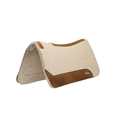 Weaver Leather 35-2712-1 Contoured Wool Blend Felt Saddle Pad, 1', Tan
