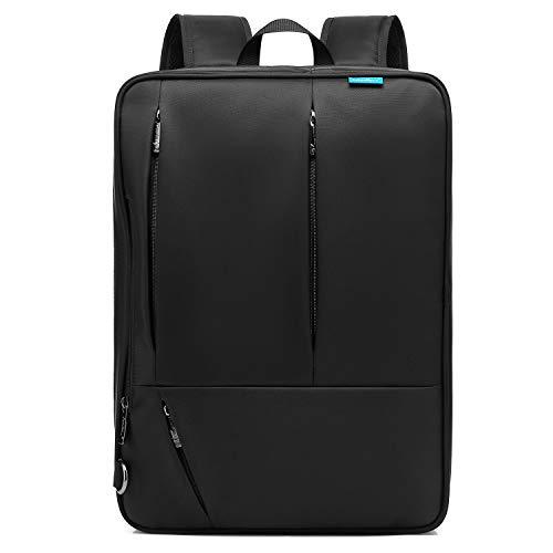 CoolBELL Convertible Messenger Bag Backpack Shoulder Bag Laptop Case Handbag Business Briefcase Multi-Functional Travel Rucksack Fits 17.3 Inch Laptop for Men/Women (Black)