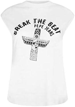 Pepe Jeans Camiseta Sin Manga Carly Color Blanco para Mujer