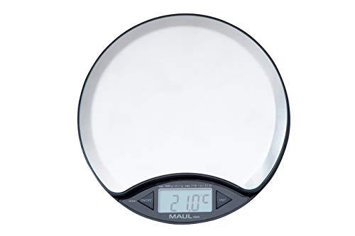 Maul Waage disk mit Batterie, 5000 g/1675096 bis 5 kg Edelstahl