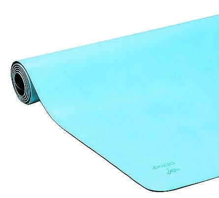 DIYogi Rutschfeste Yogamatte, umweltfreundlich, aus biologisch abbaubarem Naturkautschuk für zusätzlichen Halt, inklusive Tragegurt