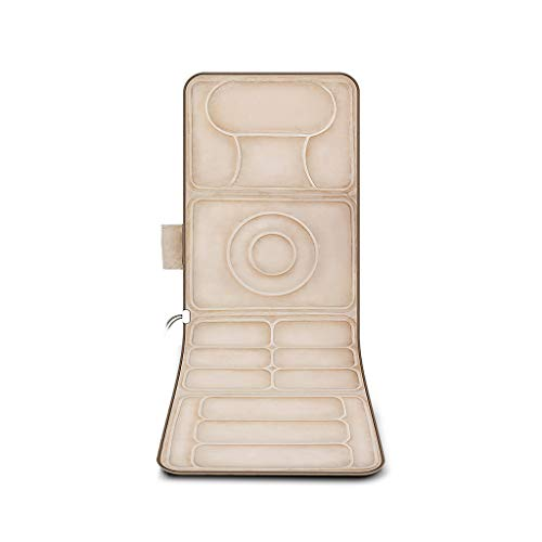 Jia He cojín de Silla de Masaje Masajeador Corporal Masajeador Multifuncional Inteligente Vibración Eléctrica Calentamiento Cintura Posterior Inicio Cama Colchón Manta ##