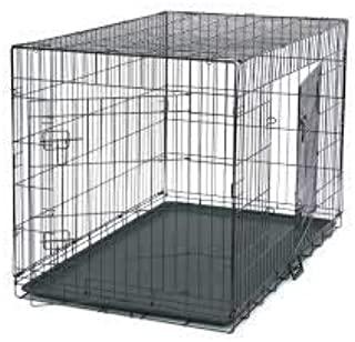 HANU Big &Adult Dog Heavy Duty Dog Crate Strong Metal Large Dog Cage Black Colour 42 INCH 01