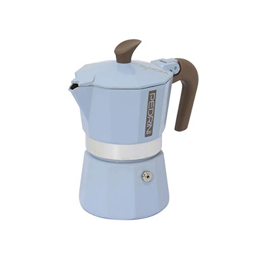 Pedrini Mymoka Mix - Cafetera de aluminio, color azul
