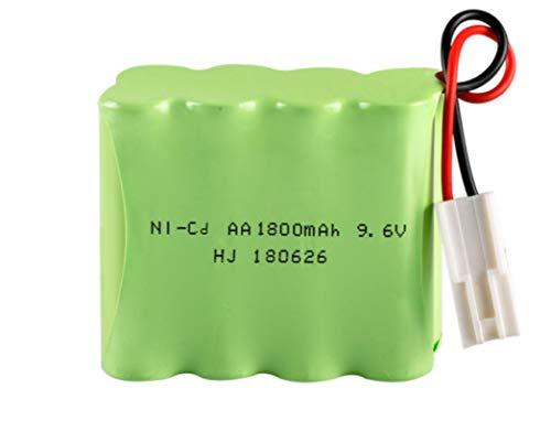 MeGgyc Batería Recargable de 9,6 v 1800 mah 9,6 v AA AA para Juguetes eléctricos RC Coche Barco Camiones 1800 mah batería de Alta Capacidad SM-2P