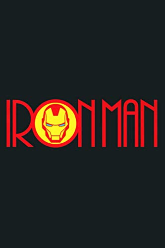 Marvel Iron Man Long Font Mask Logo Premium: Notebook Planner - 6x9 inch Daily Planner Journal, To Do List Notebook, Daily Organizer, 114 Pages