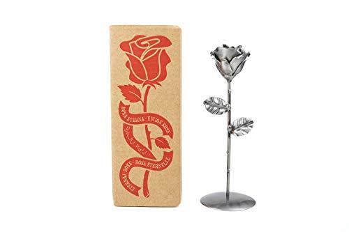 Eisen Schmiede ewige Rose mit basis - Handgeschmiedet