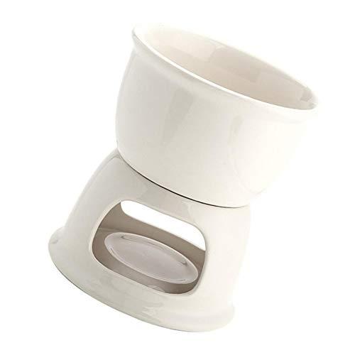 D/L Newest Chocolate Fondue Set, Porcelain Melting Pot, Fondue Mug Ceramic Melting Pot for Home, Cheese Chocolate and Tapas