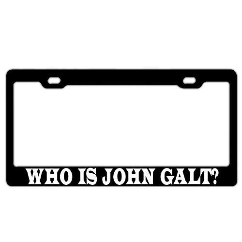 """""""Who Is John Galt""""-Kennzeichenrahmen aus Aluminiumlegierung für vorne oder hinten, Nummernschild-Rahmenhalterung, Auto-Etiketten-Abdeckung"""
