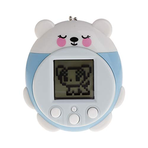 Junlinto,Mini Electronic Pets Toys 90S 9 Pets in One Virtual Cyber Pet Toy Funny for Kids Adults Blue