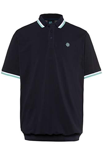 JP 1880 Homme Grandes Tailles Polo Pur Coton, Manches Courtes Bleu Marine foncé 4XL 714328 70-4XL