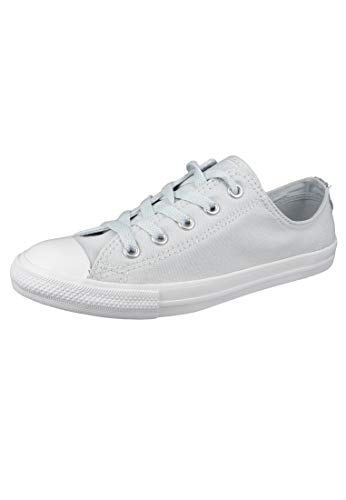 Converse Chucks 562476C Weiss Chuck Taylor All Star Dainty OX Satin Pure Platinum Silver White, Groesse:41 EU / 7 UK / 9.5 US / 26 cm