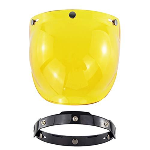Breale, visiera Open Face per casco da moto, vintage, protezione dai raggi UV, modello a bolla, accessorio antivento per casco di scooter e moto con 3 bottoni a scatto