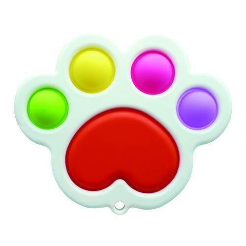 Mini Push pop Bubble Sensory Fidget Toy, Mini Fidget pop Key Chain Anxiety Stress Reliever for Kids & Adults (Cat, 1 PC)