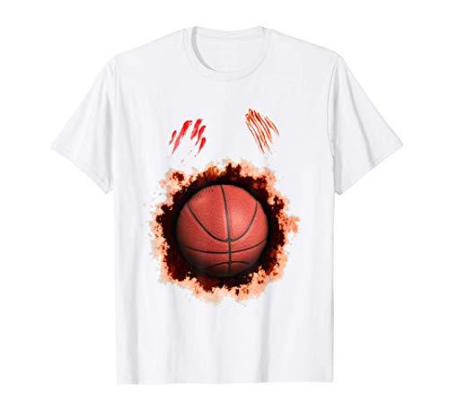 Halloween Zombie Basketball Player, Basketball Ball Gift T-Shirt
