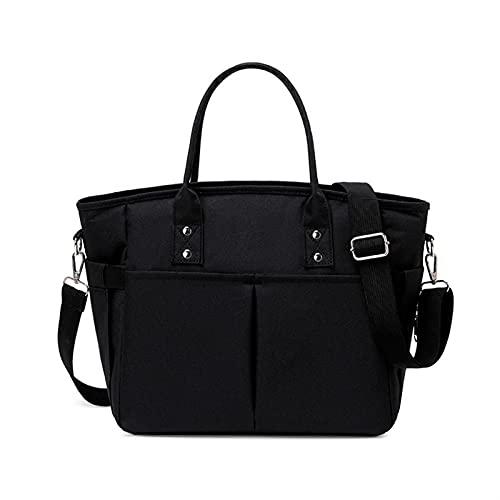 ZYYYWW Kühltasche isoliert, Handtaschen Schultertaschen Frauen Mittagstaschen Große Kapazität Lunchboxen Thermalbeutel Frauen Picknick Lebensmittel (Color : Black)