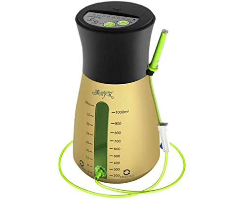 1000ml Health Hygiene Portable Coffee/Water Electric Air Pump Anus Defecating Device Cleaner Enemator Enema YST615 for Constipation Press Protection (cleanser+32 pipes)