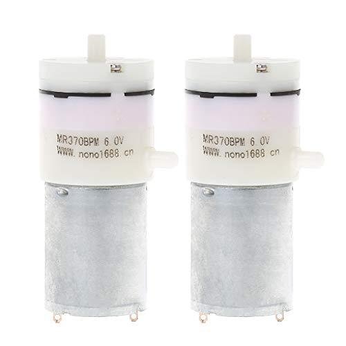 Qiulip 2 x DC 3V-6V 5V 370 Motor Micro Mini Luftpumpe Vakuum für Aquarien