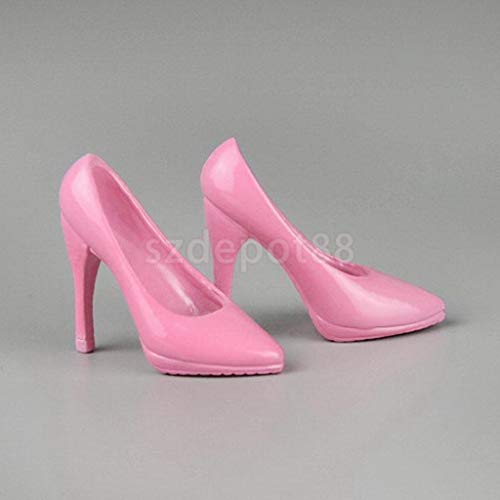 ZSMD 1/6 Female Glossy Pink High Heel Shoes for 12' Kumik Hot Toys ZY ZC Girls