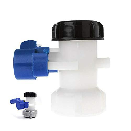 Buzz BuzzfashionDN50 Vanne Papillon 75mm, avec Écrou Flottant en Plastique, pour Cuve 1000 litres IBC