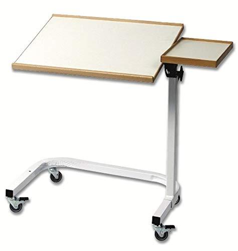 Robuster Funktions Rolltisch/fahrbarer Beistelltisch neigungs und höhenverstellbar für die professionelle Pflege