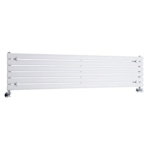 Radiador de Diseño Horizontal - Blanco - 354mm x 1600mm x 56mm - 815 Vatios - Revive