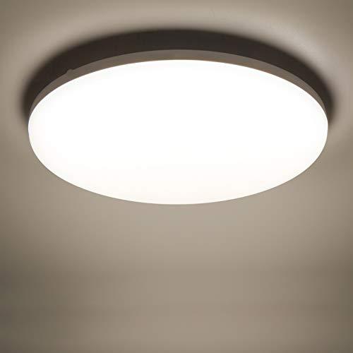 Yafido LED Deckenleuchte 36W 3240Lm Ultra Slim LED Panel 4500K Neutralweiß LED Deckenleuchte für Wohnzimmer Schlafzimmer Flur Büro Küche Balkon und Esszimmer Nicht-dimmbar Ø23 cm
