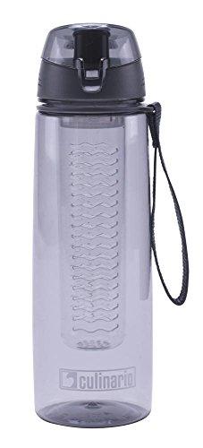 Culinario Trinkflasche Flavour aus Kunststoff, 700 ml, in grau, mit Filtereinsatz und Trageschlaufe, schlagfest, geschmacksneutral