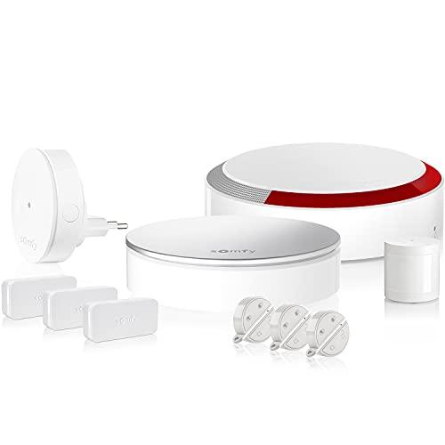 Somfy 1875230 Home Plus casa, Sistema de Alarma Completo y Conectado para el hogar, con Sirena Interior y Exterior, detectores y sensores