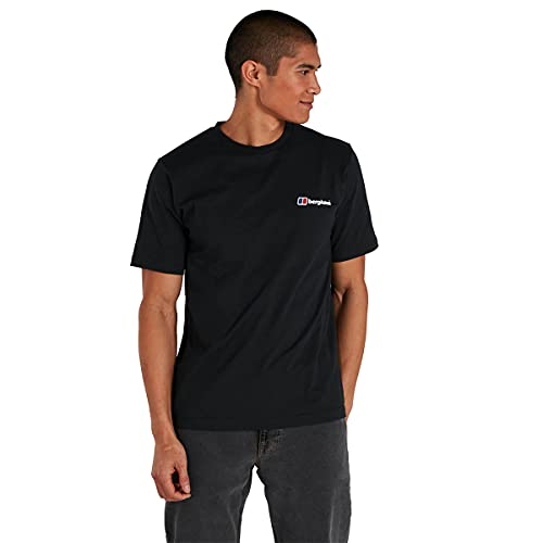 Berghaus Organic F&B Logo T-Shirt, Jet Black, L para Hombre