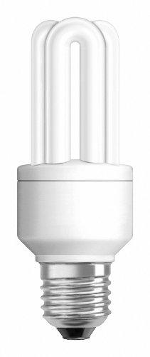 Osram 63267 Duluxstar 11 W/825, entspricht 50 Watt, Sockel E27 Energiesparlampen in Röhrenform, warmweiß