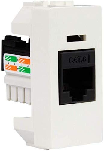 Marlanvil 10er-Pack Internetsteckdose Keystone Modul für Unterputzmontage, RJ45 Internet Cat.6 LAN