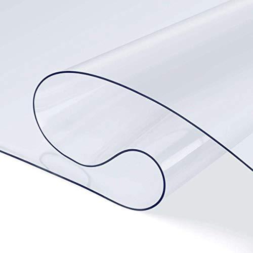NMRCP Tischdecke Transparent, Tischdecke PVC Transparent Tischschutz Wasserdicht Tischwäsche Pflegeleicht Garten Zimmer Tischdekoration,60X60CM/24X24Inch
