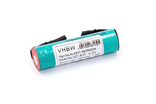 vhbw Li-Ion Akku 2000mAh (3.6V) für Haushalt Fenster Sauger Kärcher WV2 Plus, WV2 Premium, WV50 Plus, WV70 wie Accu60 Li.