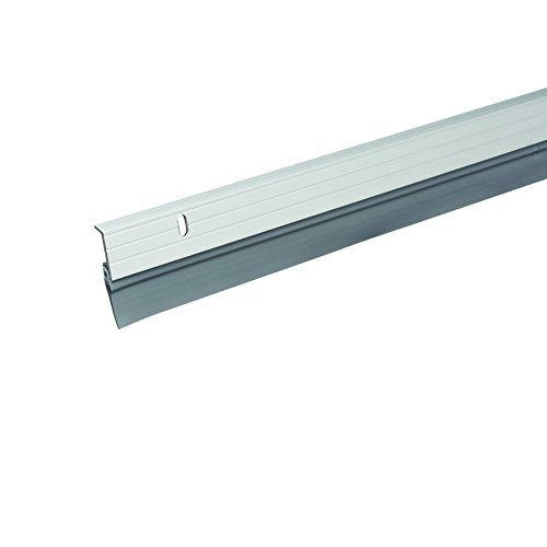 (Brushed Chrome) - Frost King BC5936H Premium Aluminium and Vinyl Door Sweep, Brushed Chrome, 2.5cm - 1.6cm x 90cm