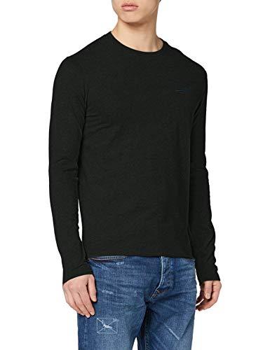 Superdry Mens OL Vintage EMB LS TOP T-Shirt, Campus Green Grit, L
