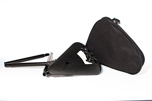 activera - Bastón corto con asiento plegable, color negro, incluye bolso