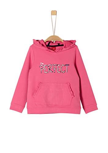 s.Oliver Mädchen 53.909.41.2701 Sweatshirt, Rosa (Pink 4543), 104/110 (Herstellergröße: 104/110/REG)