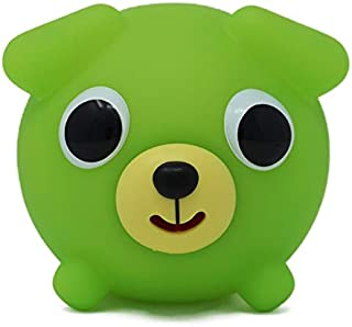 Jabber Ball Sankyo Toys Squeeze and Play Sound Ball - Neon Green Dog