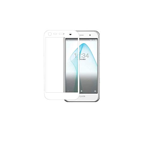 SoftBank AQUOS Xx3 mini/AU AQUOS SERIE mini SHV38 強化ガラス 液晶保護フィルム 硬度9H 高鮮明 高感度タッチ 防指紋 気泡防止 飛散防止 LFOTPP (白)