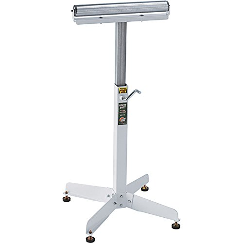 HTC Heavy Duty Adjustable Pedestal Roller Material Support Stand - with 16in. Ball Bearing Roller, Model Number HSS-10