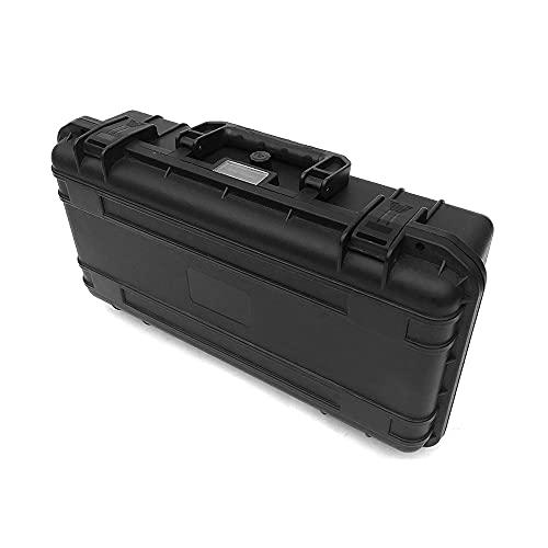 Qewrt Caja de Herramientas portátil Estuche de Almacenamiento Impermeable de plástico Maleta de Herramientas electrónica Resistente a los Impactos para Viajes Acampar al Aire Libre