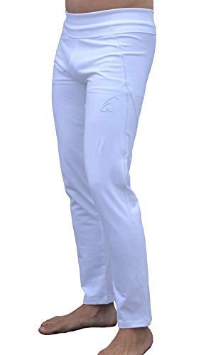 Pantalones de yoga Esparto Daylu para hombre y mujer en algodón orgánico, todo el año, Unisex, color Blanco nieve., tamaño extra-large