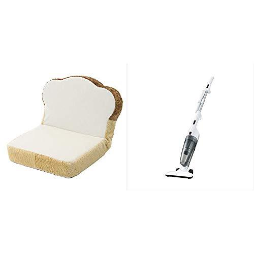 【セット買い】セルタン 日本製 低反発 プチ食パン 座椅子 食パン リクライニング PN3a-359WH/515BE/516BR & ツインバード サイクロンスティッククリーナー 2WAY 掃除機 スケルトンブラック TC-E123SBK