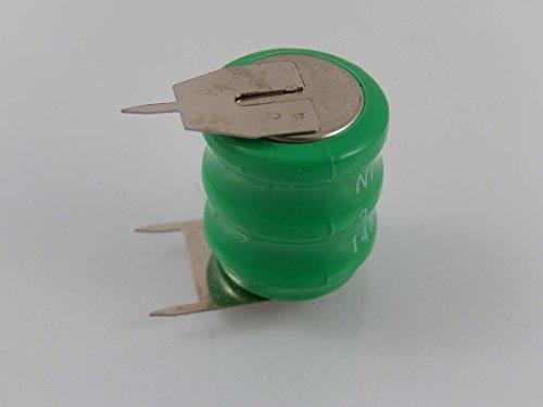 vhbw 14H NI-MH Akku 80mAh (3.6V) 3 Pins passend für Modellbau, Solarleuchten, Telefon, etc.