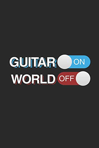 Guitar On World Off: Graph Paper Journal (6' X 9' - 120 Pages/ 5 Squares per inch) - Music Instrument Gift For Guitarist