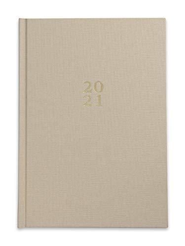 Die.Organizer 2021 Kalender - A5 Terminplaner & Familienplaner mit Hardcover Beige