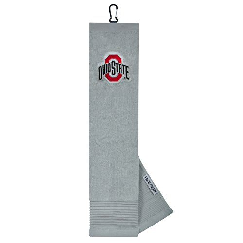 Ohio State Buckeye Face/Club Embroidered Towel